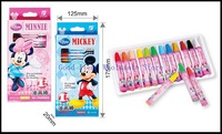 Free Shipping Wholesae Genuine MINNIE  12 Colors  Oil Pastels Coloury Strong Covering Crayon 1lot/2sets