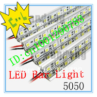 EMS/DHL 40m/lot,DC 12V SMD 5050 72 LED 1m Non Waterproof Rigid Strip Light with U Type Aluminum Alloy Slot, Retail,Wholesale