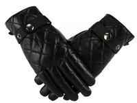 Ms true pipi gloves thick warm winter fashion women free shipping 27 sheepskin leather gloves