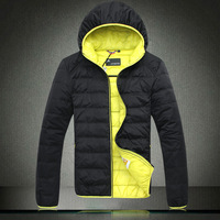 Winter jacket in paragraph Brief fashion male with a hood down coat 7802h90220