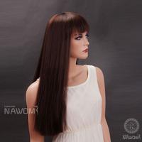 2013 Free shipping 100% Kanekalon Long Straight Synthetic Wigs Rebecca Female Dark Brown Wig