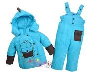 2013 Children Girls Winter Coat Jacket Down Parkas Clothing Set Boys Children Down SetsBaby Set Children's Winter clothing