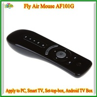 free shipping AF101G Wireless Gyroscope Air Mouse for 3D Sense Game / PC / Google TV Player - Black /3336