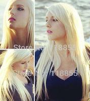 Grade 6A European virgin remy natural straight human hair 3 bundles #613 blonde Silky Straight hair weave free shipping