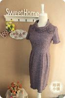 Turtleneck sweater dress one-piece dress wool middot . qd002
