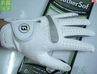 Male golf gloves male natural full sheepskin suede single left hand