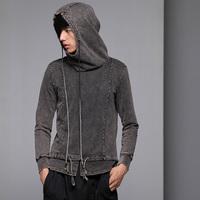 free shipping Men's clothing long-sleeve spring water wash dip dyeing sweatshirt 13210018