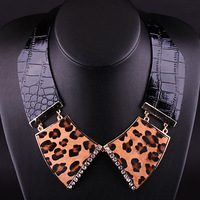 (MOQ is $10) Ruddy  New Arrivial Leather Torques  Fashion Leopard  Print  Design Jewelry  for Lady Free Shipping