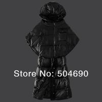 2014 New Arrival Women Down Coat Warm Winter Down Dress Top Quality Brand Lady Down Jackets Cloak Hoodies Ladies Down Parka