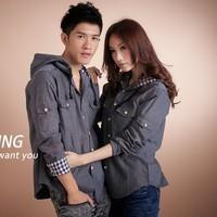free shipping Men's clothing Light gray Light green Khaki white Pink black long-sleeve men's clothing shirt