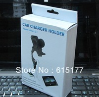 Dual USB Cigarette Lighter Car Charger 2A 1A Phone Holder Mount for iPhone Galaxy Note Can Charge iPad