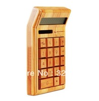 Free shipping 2013 new DESIGN Bamboo calculator with high quality Rohs