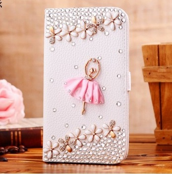 DIY skin Handmade diamond Bling Rhinestone Cell Phone Case Cover for iphone 4 4S 5 samsung i9500 i9300 s4 Pink Color
