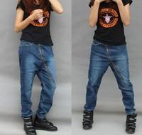free shipping Plus size jeans Women harem pants lowing loose pants mm hiphop jeans