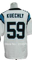 Free Shipping 59 Luke Kuechly Men's Authentic White Elite Football Jersey For Sale Cheap 2013