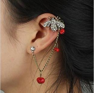 Cheapest is $10(mixed) Hot Bee Bone ear clip retro Animal Earrings Jewelry Women Gift ED-038