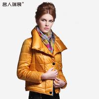 Cotton-padded jacket female short design women's short design slim stand collar fashion glossy female cotton-padded jacket