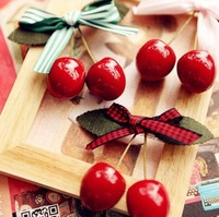 Nice Cherry Hair Clip Bowknot Hairpin Hair Accessory Claw Hairdress