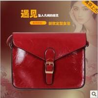 Fashion vintage messenger bag small   oil leather motorcycle messenger  female bags women messenger bag -small noble