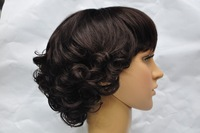 fashion  Women Nice short curly wig Stylish lady  hair wigs synthetic Free Shipping