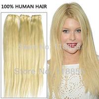 6A Peruvian virgin Straight Human Hair bundles 3pcs blonde 613 straight Hair Weave silky straight Hair Weft Free Shipping