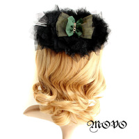 DIY Blackish Green Lace Hair Clip Hairpin Hair Accessory Claw