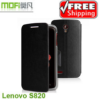 4Color,Original Mofi High Quality leather case for Lenovo S820,100%Real cowhide cover,Free shipping