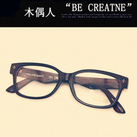 Non-mainstream puppet people wood grain radiation-resistant glasses plain mirror myopia frame eyeglasses glasses frame