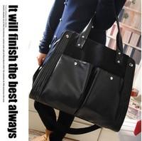2013  new winter vintage shoulder bag black canvas messenger bag  women's fashion joker casual  big bags