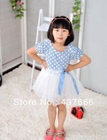 TOP Retail ! New Arrival Girl dress Cute girl princess party Dress multi color children dress for the