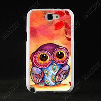 Luxury TPU+PC Customized Designer Case hard back cover for Samsung Galaxy Note 2 II N7100 ARTS owl ZC1491 wholesale Free ship