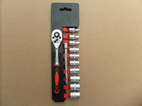 Wrench with socket set