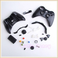 Full Housing Case Shell for Xbox 360 Wireless Controller Black