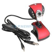 T2N2 USB2.0 PC Camera Webcam CMOS Sensor with Microphone 6 LED Professional