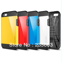 SLIM ARMOR SPIGEN SGP TOUCH ARMOR hard Back Cover Luxury TPU + PC Case for iPhone5C with Retail packaging Free shipping 12colors