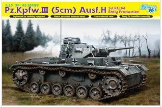 Dragon model 6641 1/35 Pz.Kpfw.III (5cm) Ausf.H Sd.Kfz.141 Early production plastic model kit(China (Mainland))