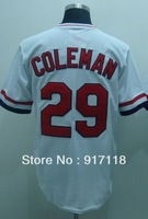 Free Shipping #29 Vince Coleman Throwback Men's Baseball Jersey,Embroidery and Sewing Logos,size M--3XL,Accpet Mix Order