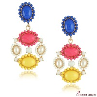 Min.order $10 (mix order) Neon color block earrings  earrings multicolour  earrings   earrings
