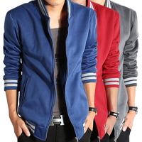 Free shipping qiu dong outfit new collar cardigan fleece han edition men's clothing of fleece coat collar