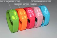 fashion gift Popular fashion bracelet usb flash drive led watch brand watches lovers watch sports