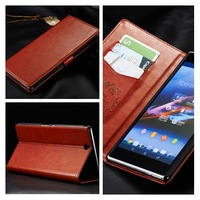 1Pcs/Lot Lastest The with Stent function Flip Cover leather Case For Sony Xperia Z Ultra XL39h Free Shipping,B0174