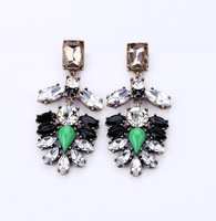 High Quality Fashion Luxury Party Drop Earrings Crystal Pendant Earring Vintage Brand Jewelry Women Free Shipping 2013