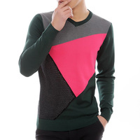 Mrfrak 2013 spring new arrival men's clothing V-neck knitted basic shirt casual sweater male sweater