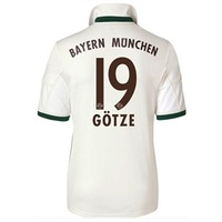 New 13/14 Bayern away White #19 Gotze Soccer Jerseys 2013-2014 Cheap Football kit Soccer Uniforms free shipping