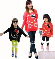 New !wholesale Children's cartoon T-shirt,hello kitty Girls long sleeve T-shirt,100% cotton kids t shirt