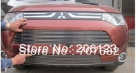 2013 Mitsubishi Outlander High quality stainless steel Front Grille Around Trim Racing Grills Trim
