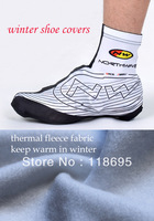 free shipping thermal fleece material winter cycling shoes cover cycling 2013 blackwhite N W all in stock