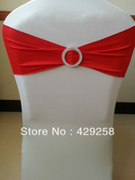 Free Shipping Red Spandex Band with a plastic circular ring For Weddings/ Hotel/Banquet