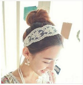 free shipping/2013 fashion women headband,lace flower hair band stylish hair accessory 10pcs/lot