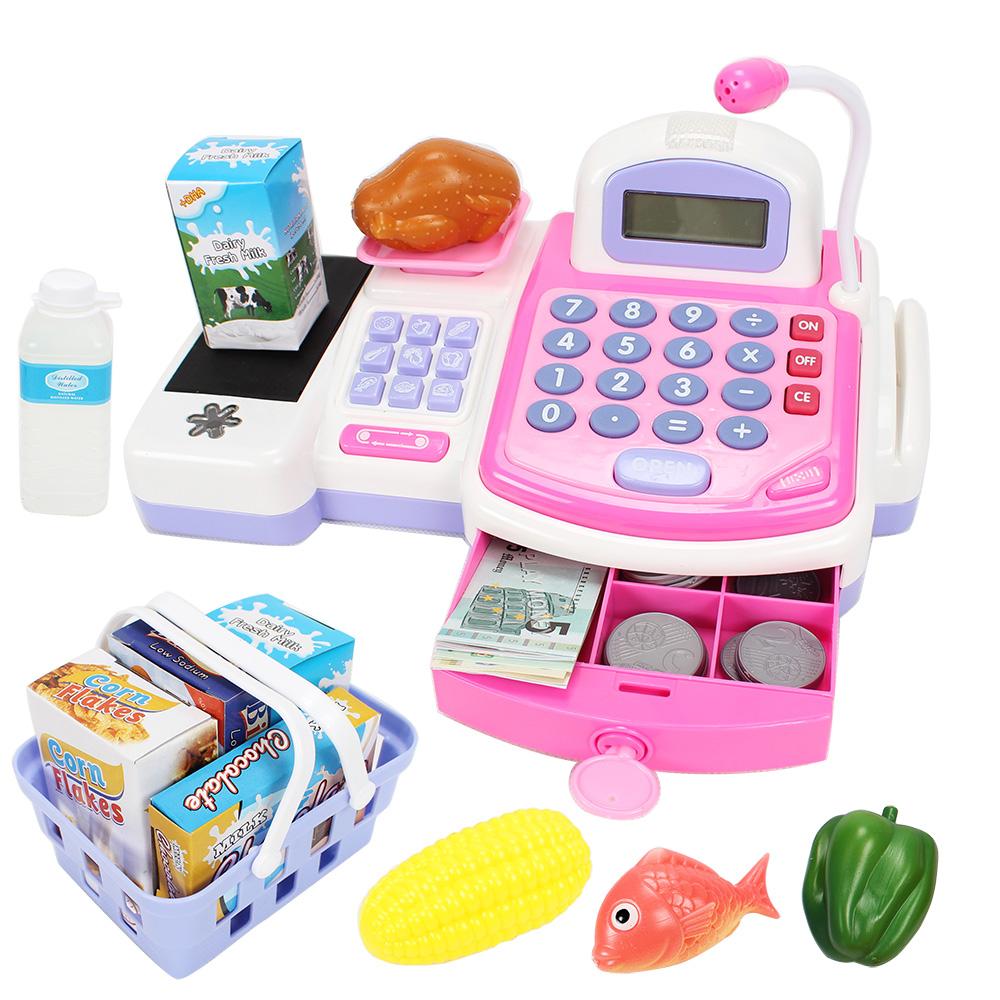 Toy child supermarket cash register tape calculator(China (Mainland))